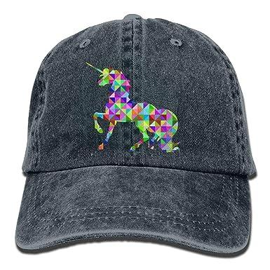 Geométrico Animal Unicornio Hipster Unisex Denim Jeans Sombrero de ...