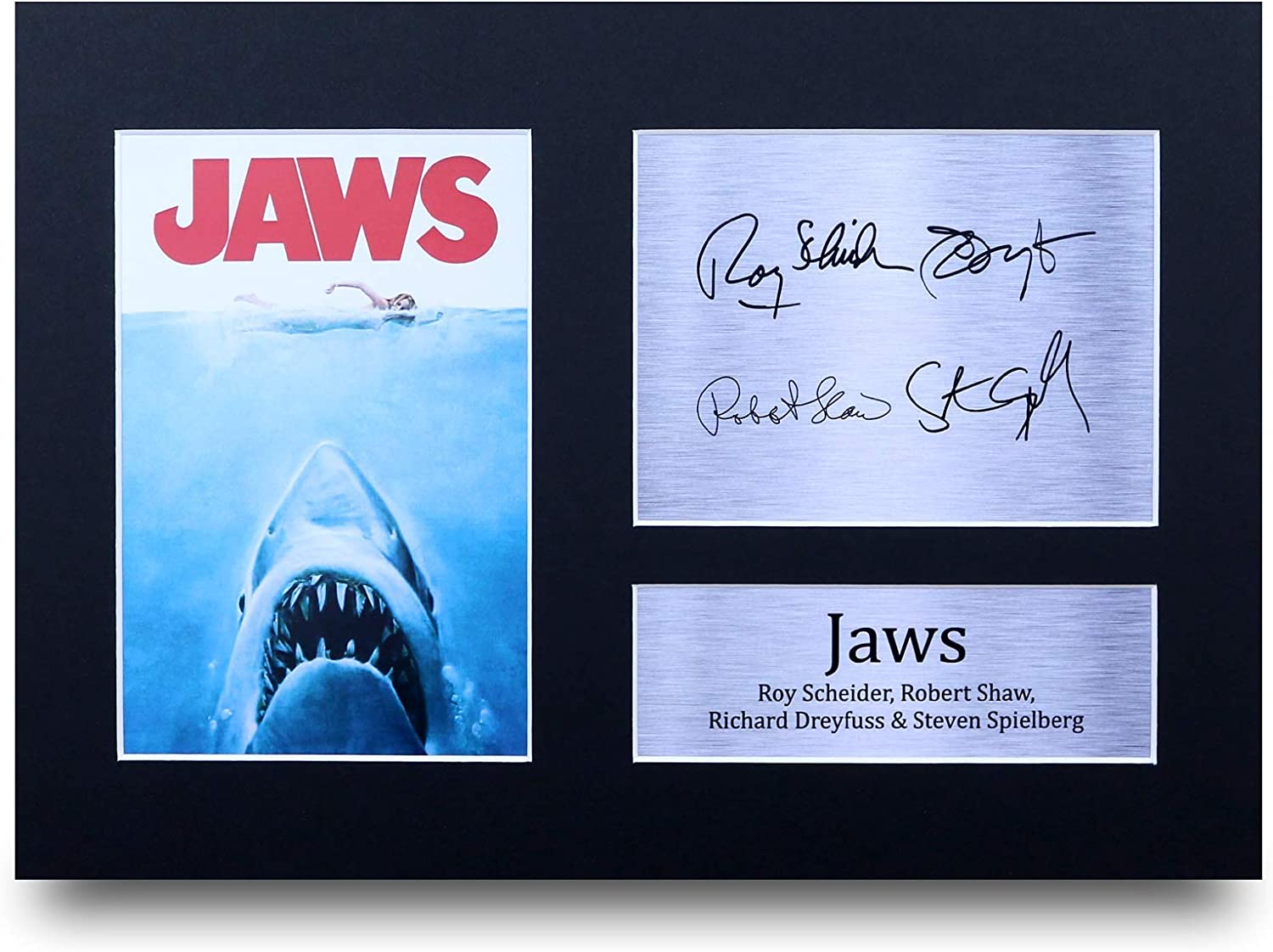 HWC Trading Jaws Gift Signed A4 Printed Autograph The Cast Gifts Photo Display