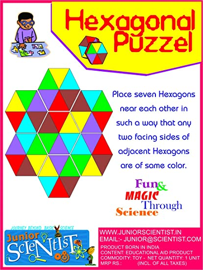Buy HEXAGONAL SHAPE PUZZLE BIRTHDAY RETURN GIFT Online At Low Prices In India