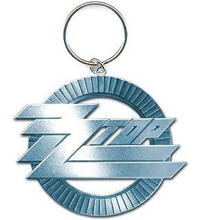 Amazon.com: ZZ parte superior Círculo Logo metal Key Chain ...