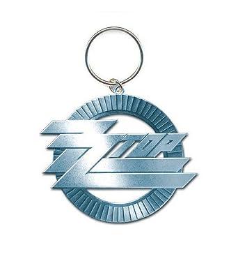 Amazon.com: ZZ parte superior Llavero Círculo banda logotipo ...