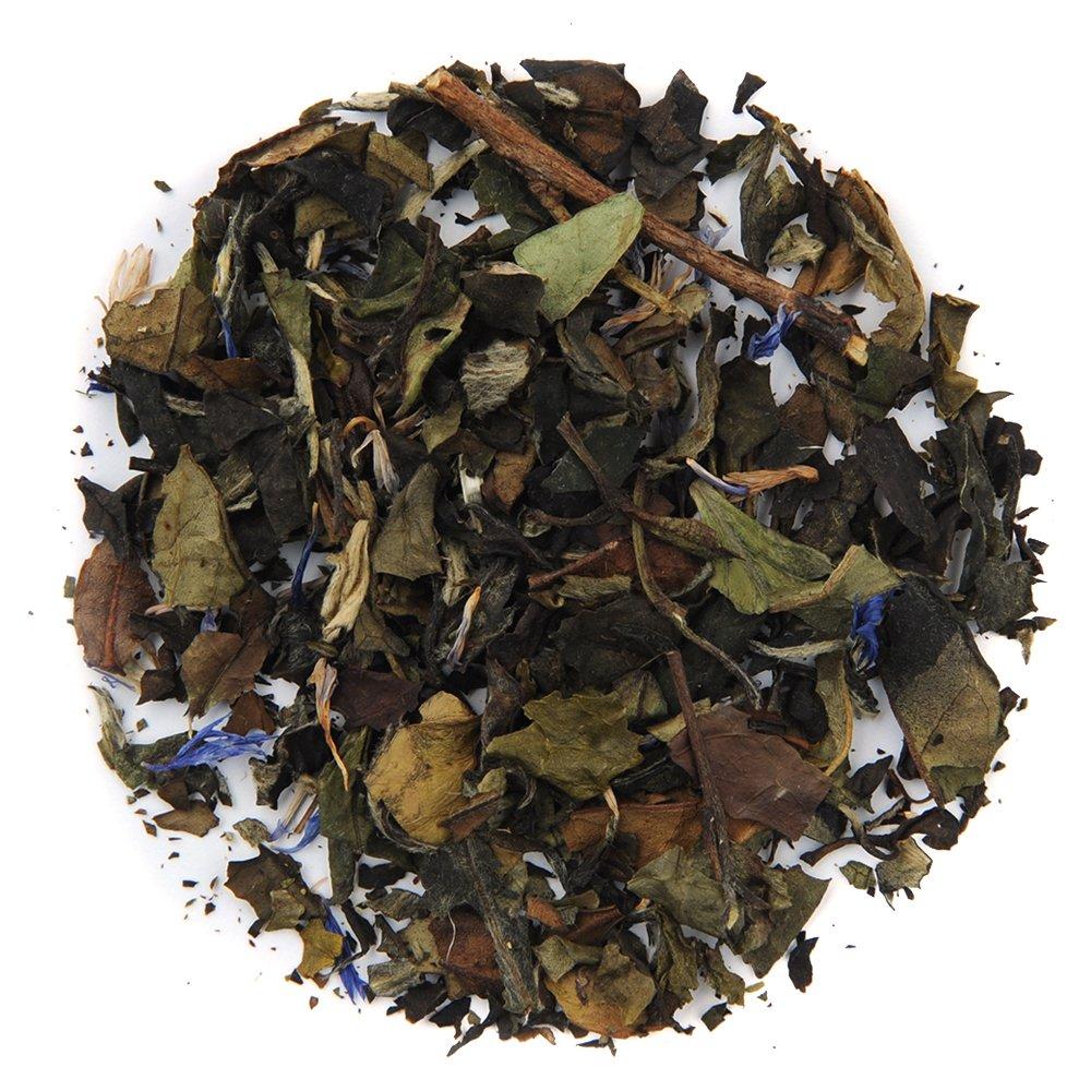 Organic Açaí White Tea, Loose Leaf White Tea, Bulk 1 Pound Bag, Positively Tea LLC. (1 Lb.)