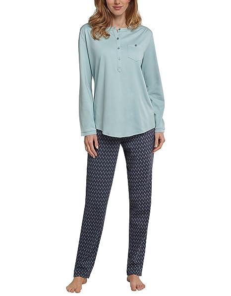 Schiesser Anzug Lang-Pijama Mujer verde lima