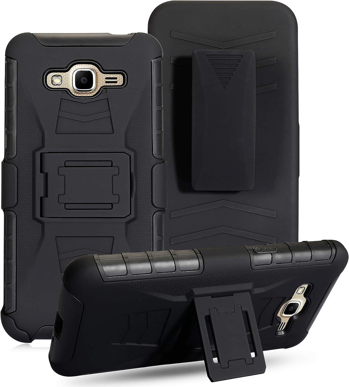 Cocomii Bionic Armor Galaxy J3 2016/J3 V/J3 Pro/Amp Prime Funda Nuevo [Robusto] Funda Clip para Cinturón Soporte Antichoque Caja [Militar Defensor] Case Carcasa for Samsung Galaxy J3 2016 (Bi.Black)