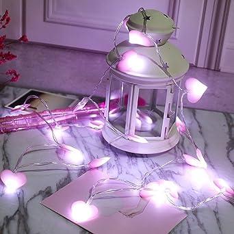 LED Lichterkette Für Heiratsantrag Valentinstag Überraschschung Weihnachten  Sicher Batteriebetriebene Lichterkette Super Zimmer Dekoration (Violet,