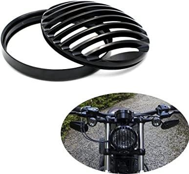 Metal Headlight Grill Cover Fits Harley Davidson Sportster XL 883 1200 X48 Black