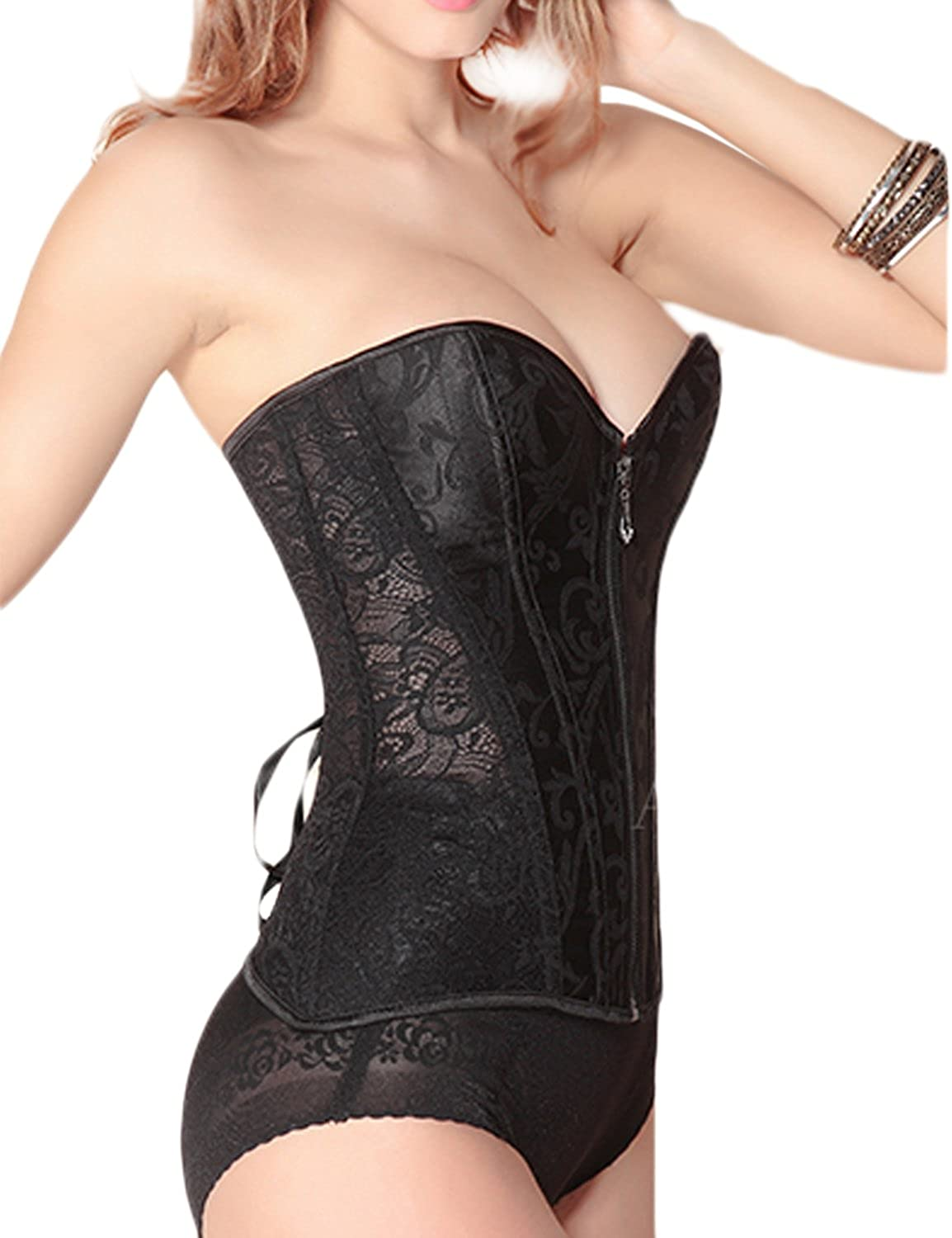 07ef3a9e4c Only Faith Women s Wedding Waist Slimming Trainer Corset Cincher Body Shaper  at Amazon Women s Clothing store