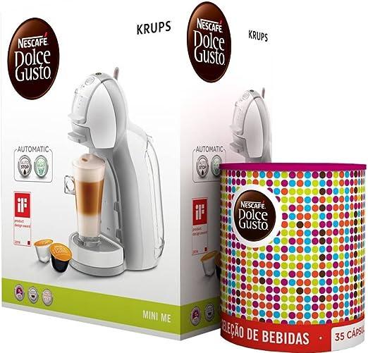 Cafetera Krups Kp1201 Mini Me Blanca Y Gris Automatica 15 Bares ...