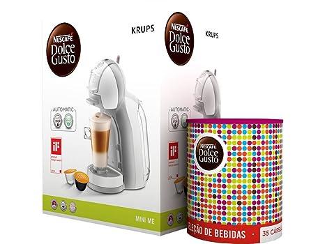 Cafetera Krups Kp1201 Mini Me Blanca Y Gris Automatica 15 ...