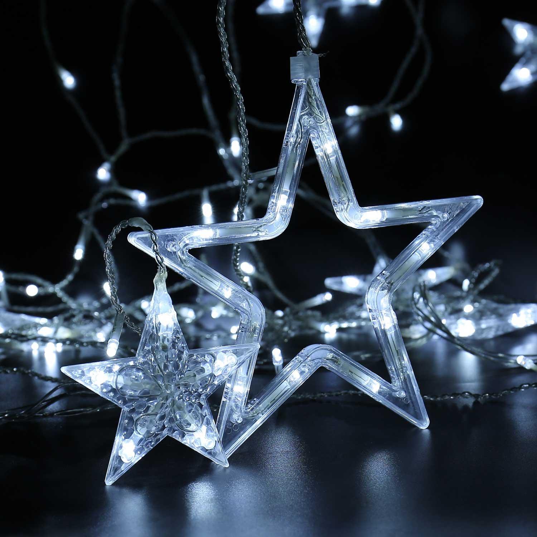D/écoration de Chambre Qedertek 124 LED Guirlande Lumineuse Coeur Blanc Chaud 2m x 1.5m 8 Modes Guirlande Int/érieure pour Mariage Rideaux Lumineux En Forme de C/œur Anniversaire Demande en Mariage