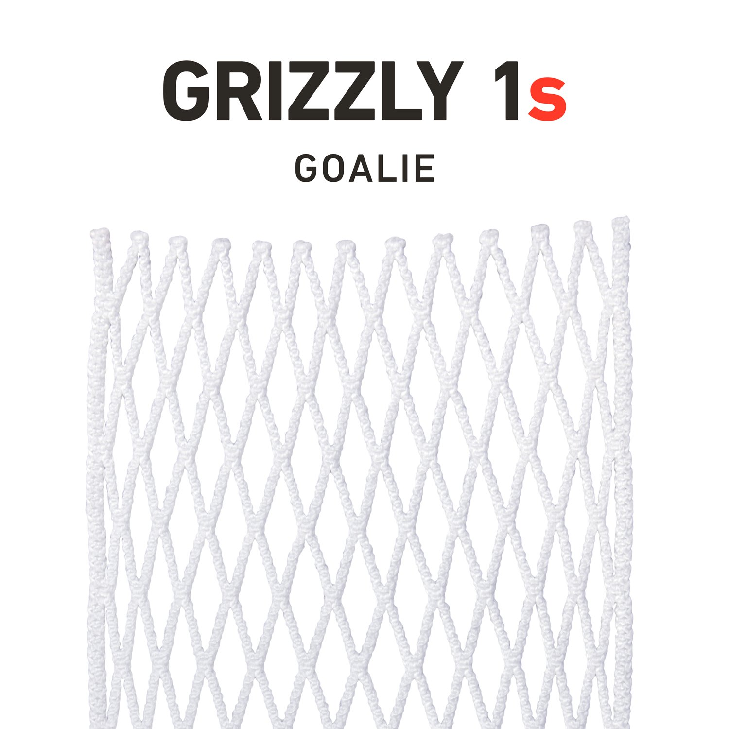 String King Grizzly 1s Semi-Soft Goalie Lacrosse Mesh Piece