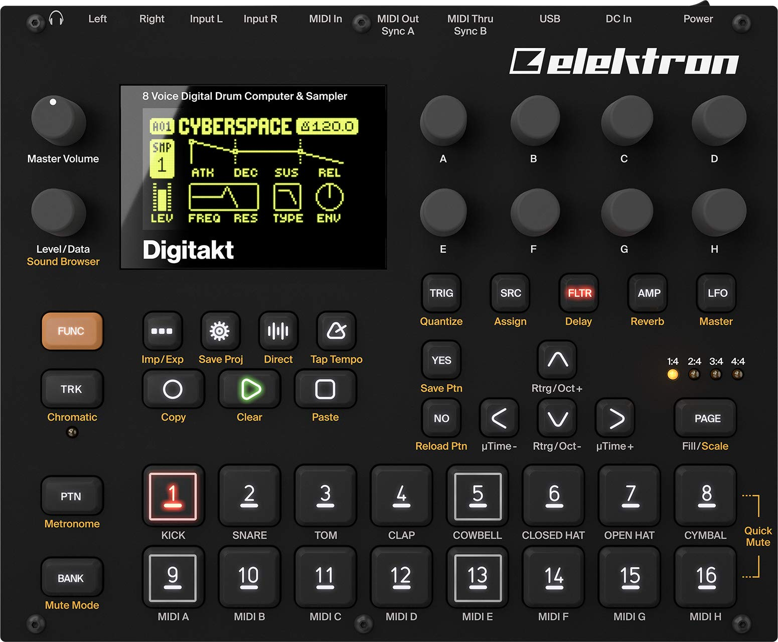 Elektron Digitakt 8-voice Drum Computer and Sampler by Elektron