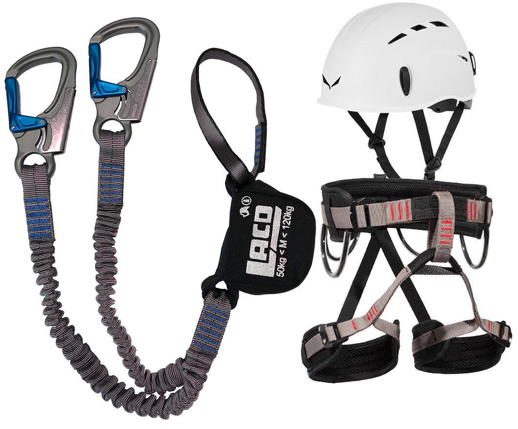 LACD Klettersteigset Ferrata Pro Evo Gurt Start + Helm Salewa Toxo product image