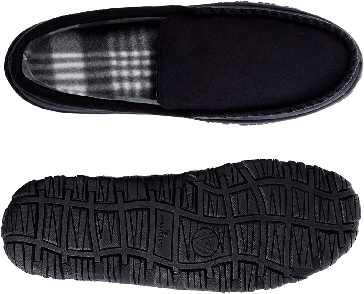Mens Slippers /& Mens Moccasin Slippers /& Moccasins for Men /& Mens House Slippers Memory Foam with Anti Slip Rubber Sole