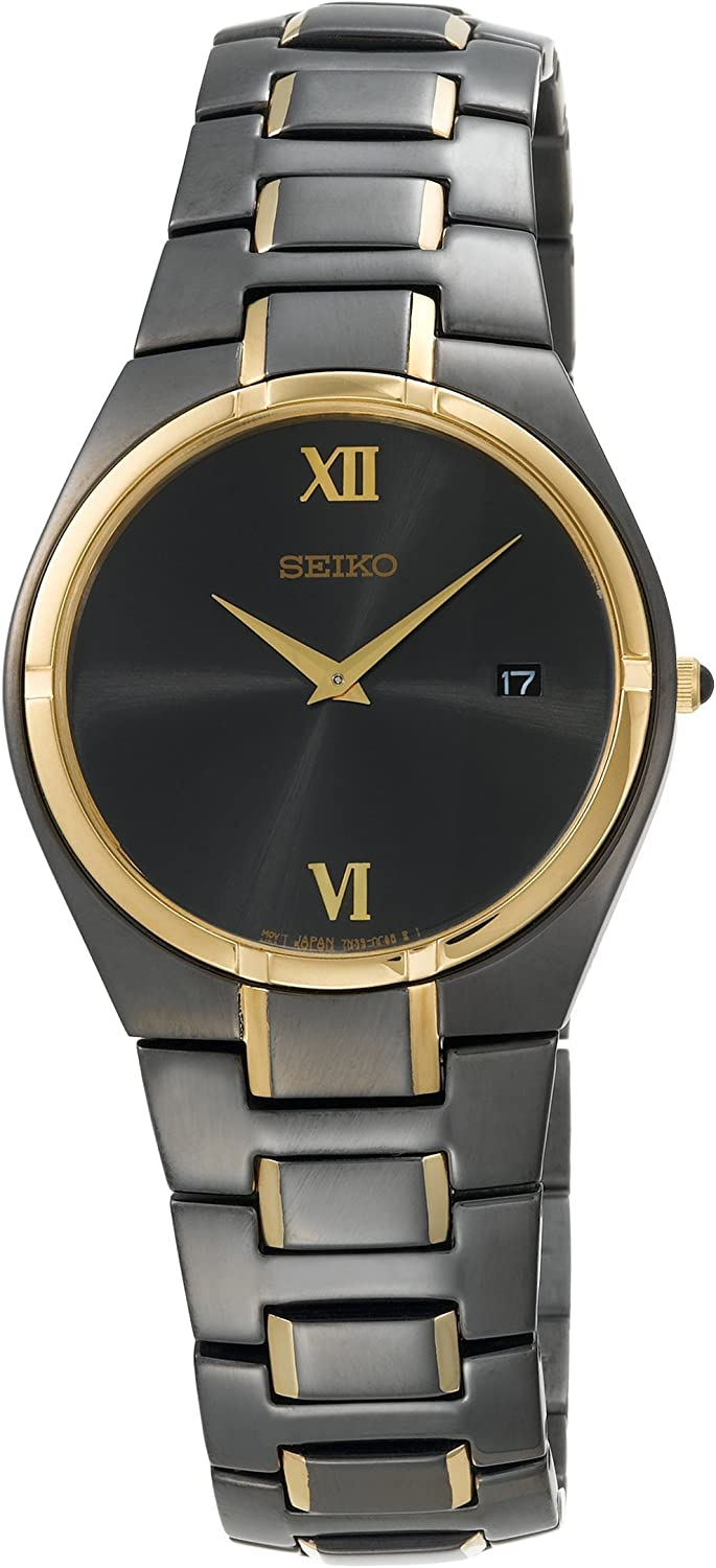 Seiko Men s SKP310 Dress Black Ion Watch