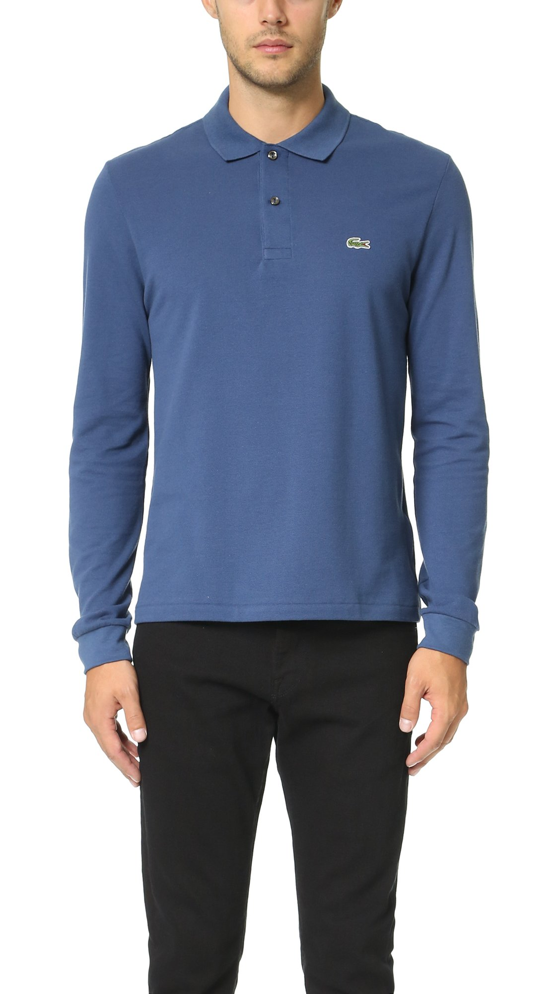 Lacoste Men's Long Sleeve Classic Polo Shirt, Navy, X-Large