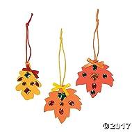 12 ~ Rhinestone Fall Leaf Craft Kits ~ New / Individually packaged
