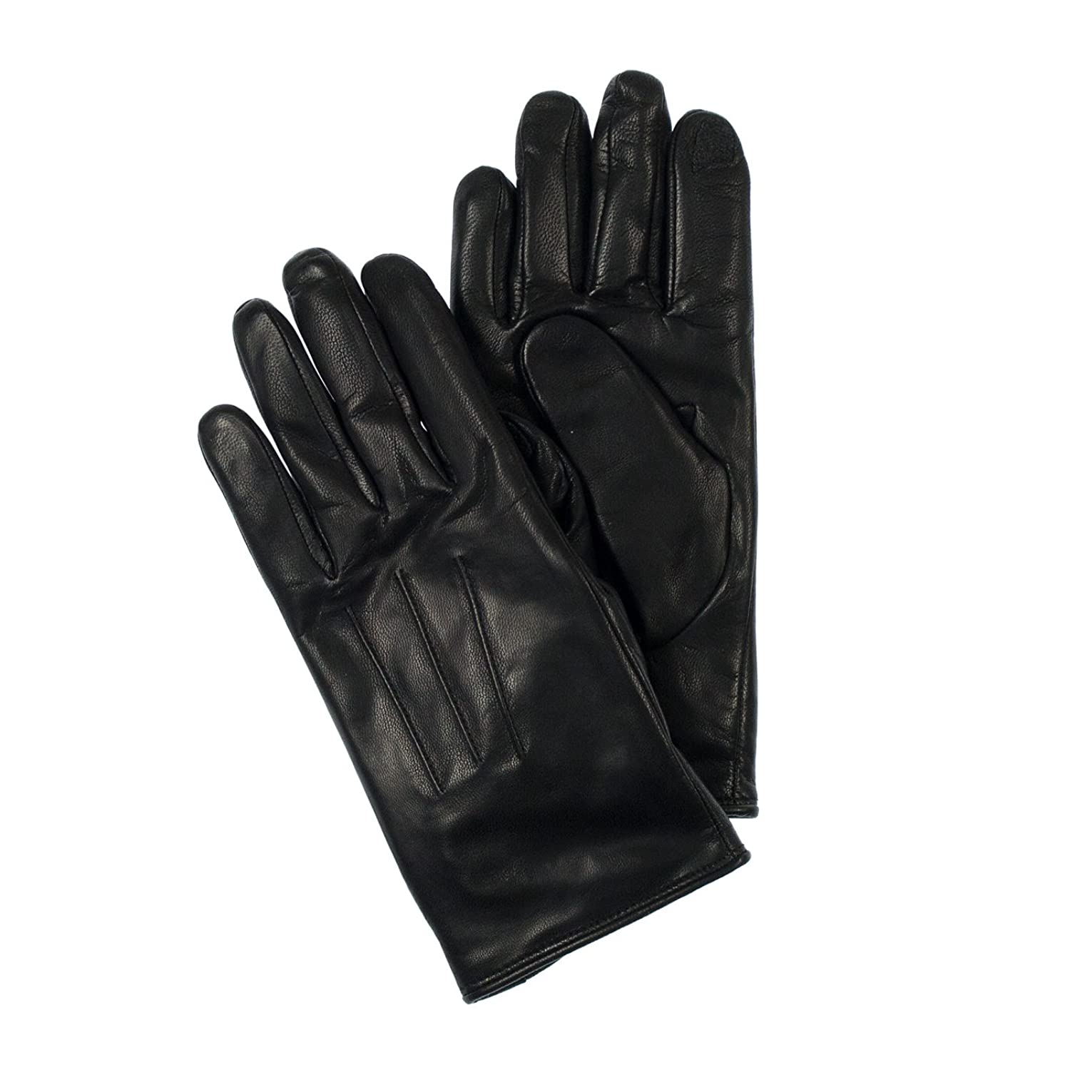 Isotoner womens leather gloves with fleece lining - Isotoner Womens Genuine Leather Smarttouch Technology Gloves Xl Black At Amazon Women S Clothing Store