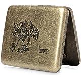 hopewey Metall Zigarettenbox,Zigarettenetui für 20 Zigaretten Zigarettenschachtel luxuriös elegant Tiger Z1