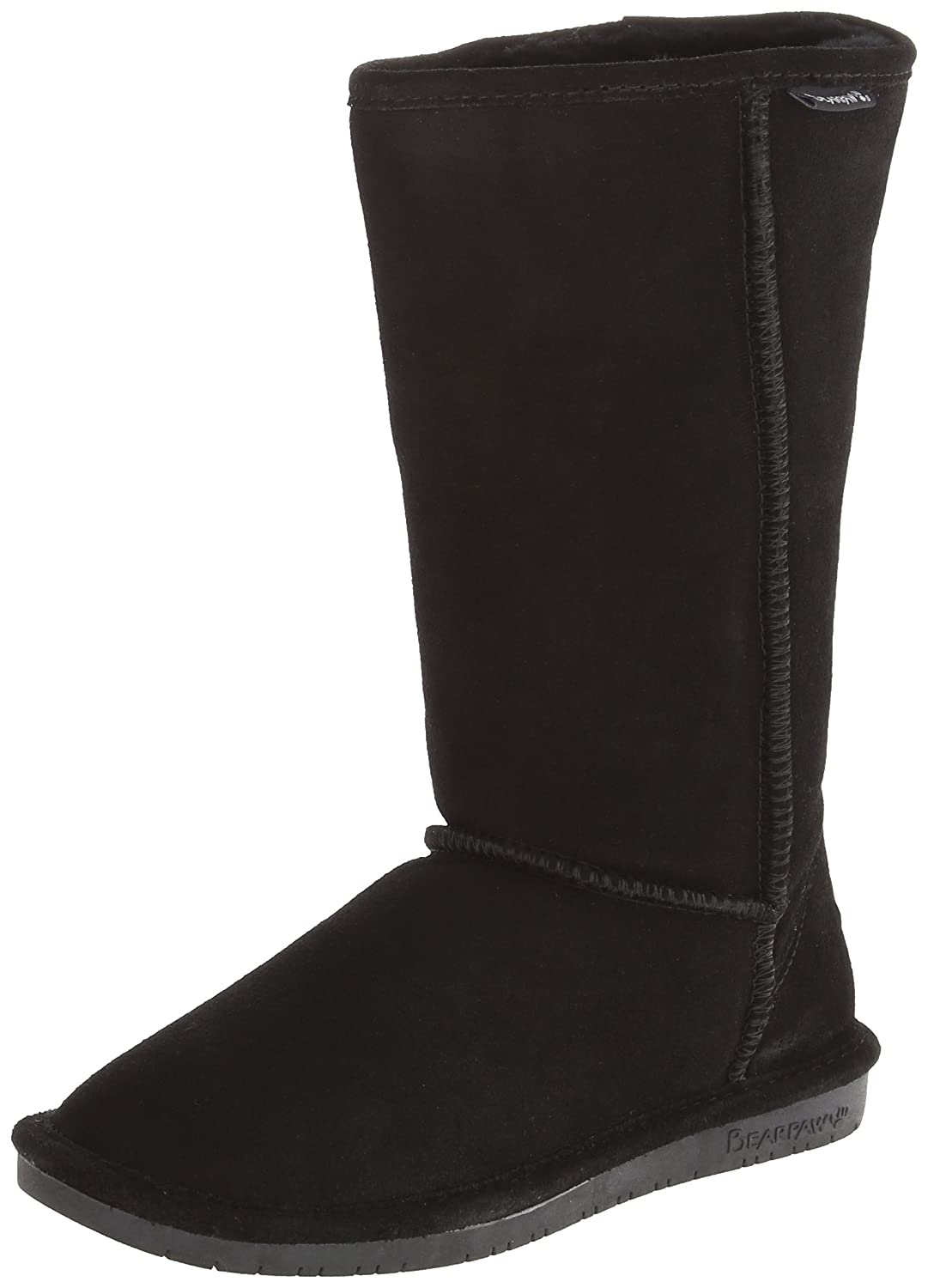 BEARPAW Women's Emma Tall Mid Calf Boot B077R39H3L 41 M EU / 10 B(M) US|Black