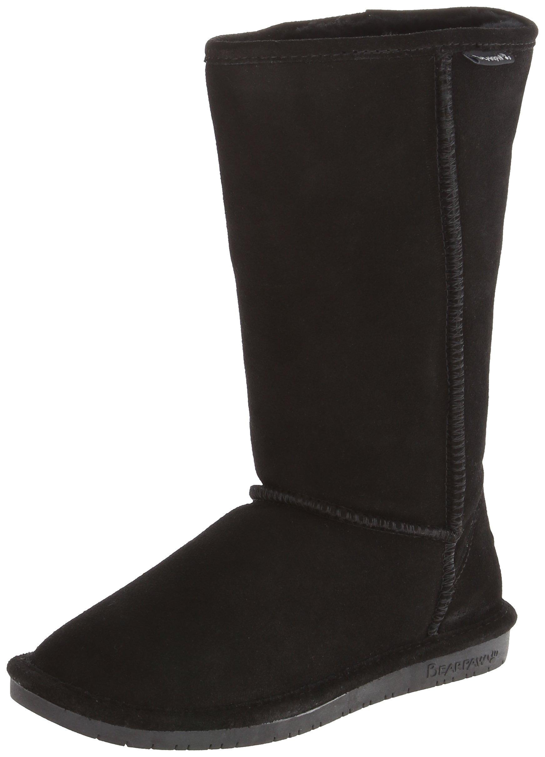 BEARPAW Women's Emma Tall 612-W Boot,Black,8 M US