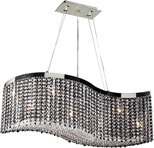 PLC Lighting 66010 CLEAR PC Chandelier from Clavius – I Collection