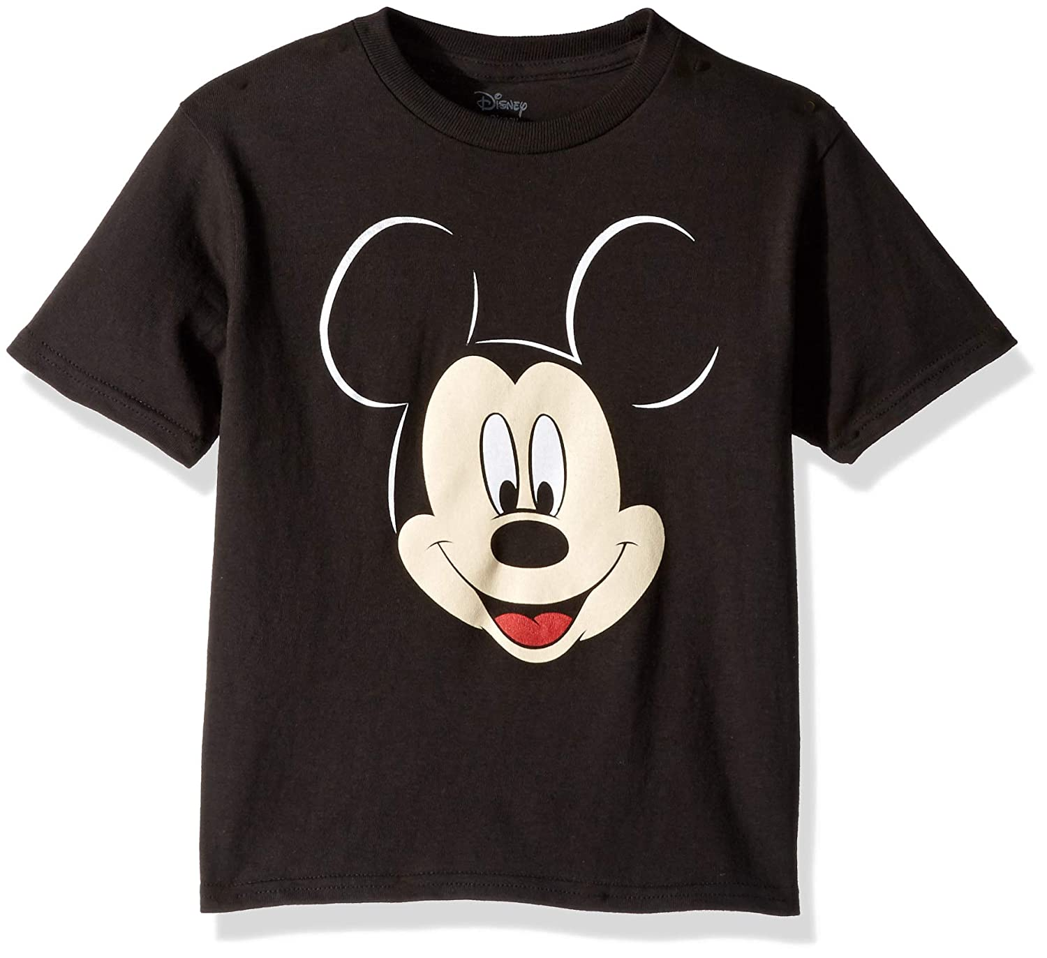 Boys Disney Mickey Mouse Face Long Sleeved Top Ages 2-8 Years Tee Shirt
