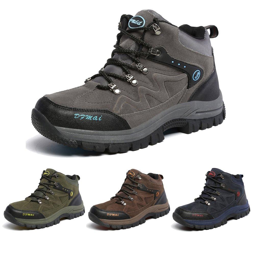 J&T Zapatos de Senderismo Para Hombre Resistente Al Agua Botas de Senderismo Deportes Exterior Boats Escalada Sneakers Zapatillas de Senderismo Para Unisex Gris Verde Marrón Azul 68-777
