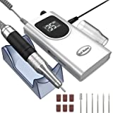 Kredioo Nail Drill Machine for Acrylic Nails, 35000RPM Professional Portable Electric Nail Drill File, E-file Nail Drill Set
