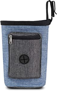 Suuree Dog Treat Pouch, Professional Pet Training Bag Holder for Small to Large Dogs, Built-in Poop Waste Bag Dispenser, Easily Carries Pet Toys, Puppy Food, Kibble, Clicker for Travel Walking.