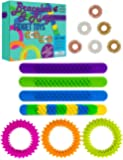 Purple Ladybug Fidget Bracelets & Rings for Stress & Anxiety Relief! BPA & Phthalate Free Sensory Toys for Kids: 4 Slap Bracelets, 3 Spiky Bracelets & 6 Fidget Rings! Fun Fidgets and Cool Travel Toys!