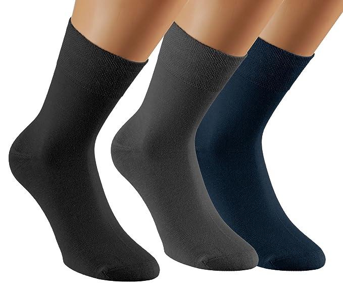 Vitasox Calcetines de bambú unicolor, calcetines de bambú de señora y de caballero, sin elástico, sin costura, lote de 6 o 12 unidades: Amazon.es: Ropa y ...