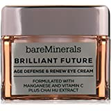 bareMinerals Brilliant Future Age Defense and Renew Eye Cream, 0.5 Ounce, clear