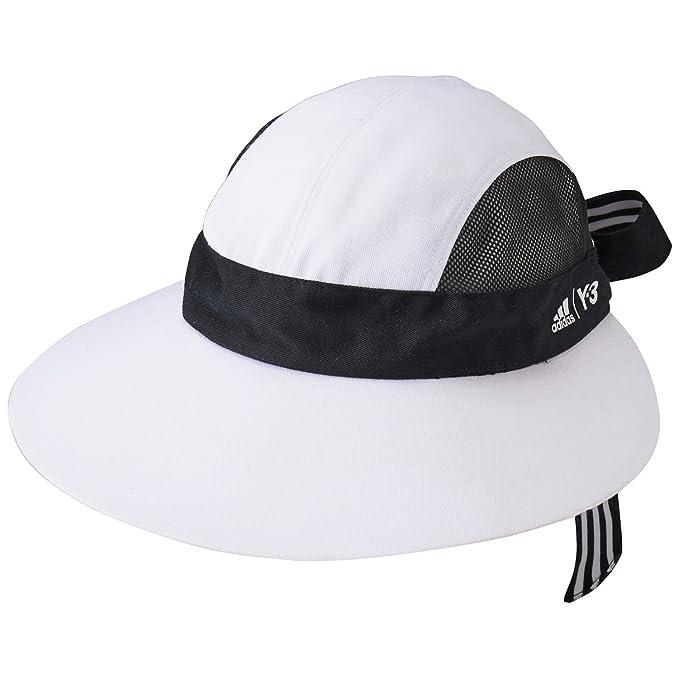 adidas para Mujer Roland Garros Y-3 Tenis Sombrero Gorra de Sol en White-Elastic ala Banda Alrededor de Interior para una Mejor: Amazon.es: Ropa y ...