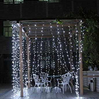 Cadena de luces LED de samLIKE, luz blanca cálida, 8 modos, cadena ...
