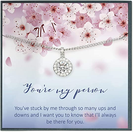 Amazon Com Grace Of Pearl Youre My Person Necklace You Are My Person Gift Best Friend Necklace You Re My Person Quote Card Friendship Bff Jewelry Jewelry