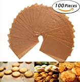 Parchment Paper Cookie Baking Sheets - Silicone - Non-Stick Brown Unbleached - 12 x 16 Inches - Pack of 100