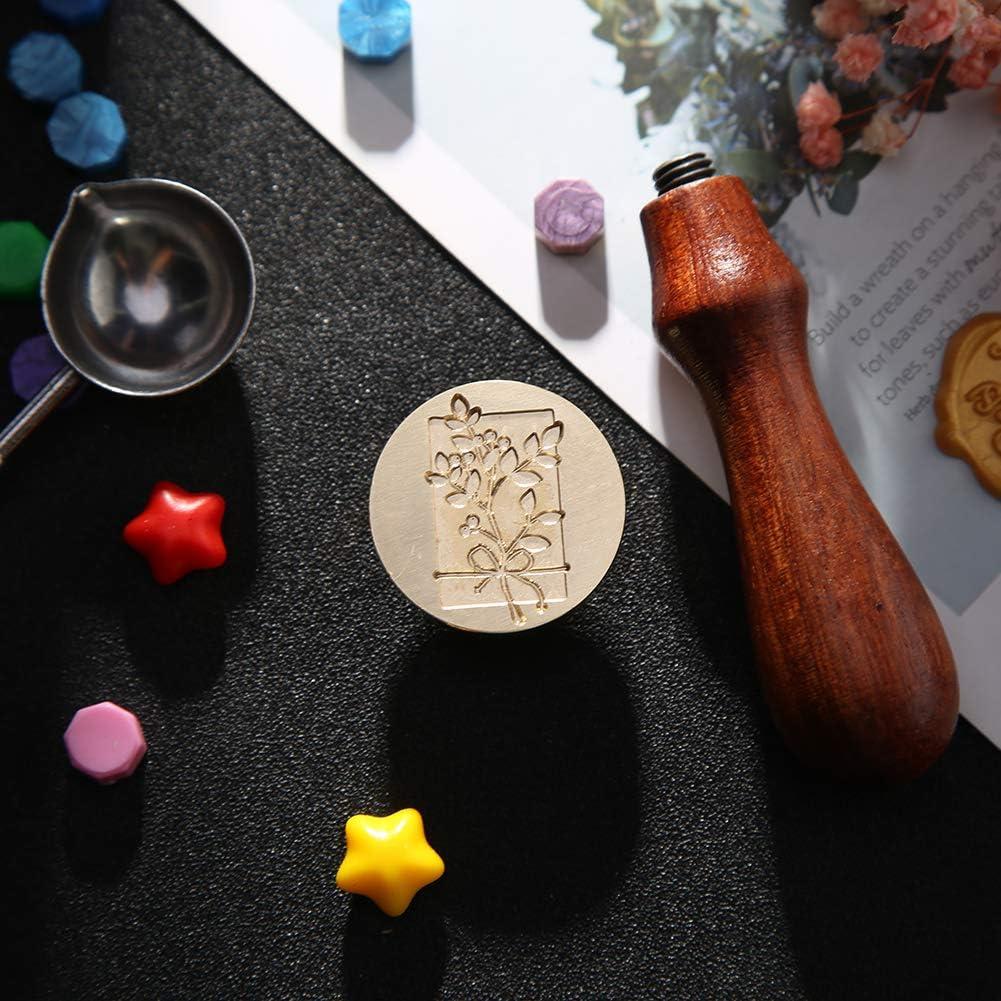 Demiawaking Timbro Sigillo Ceralacca Vintage Timbro Ceralacca Personalizzato Matrimonio DIY Decorazioni per Biglietto dinvito Buste Lettere Fai da te Carrello da giardino