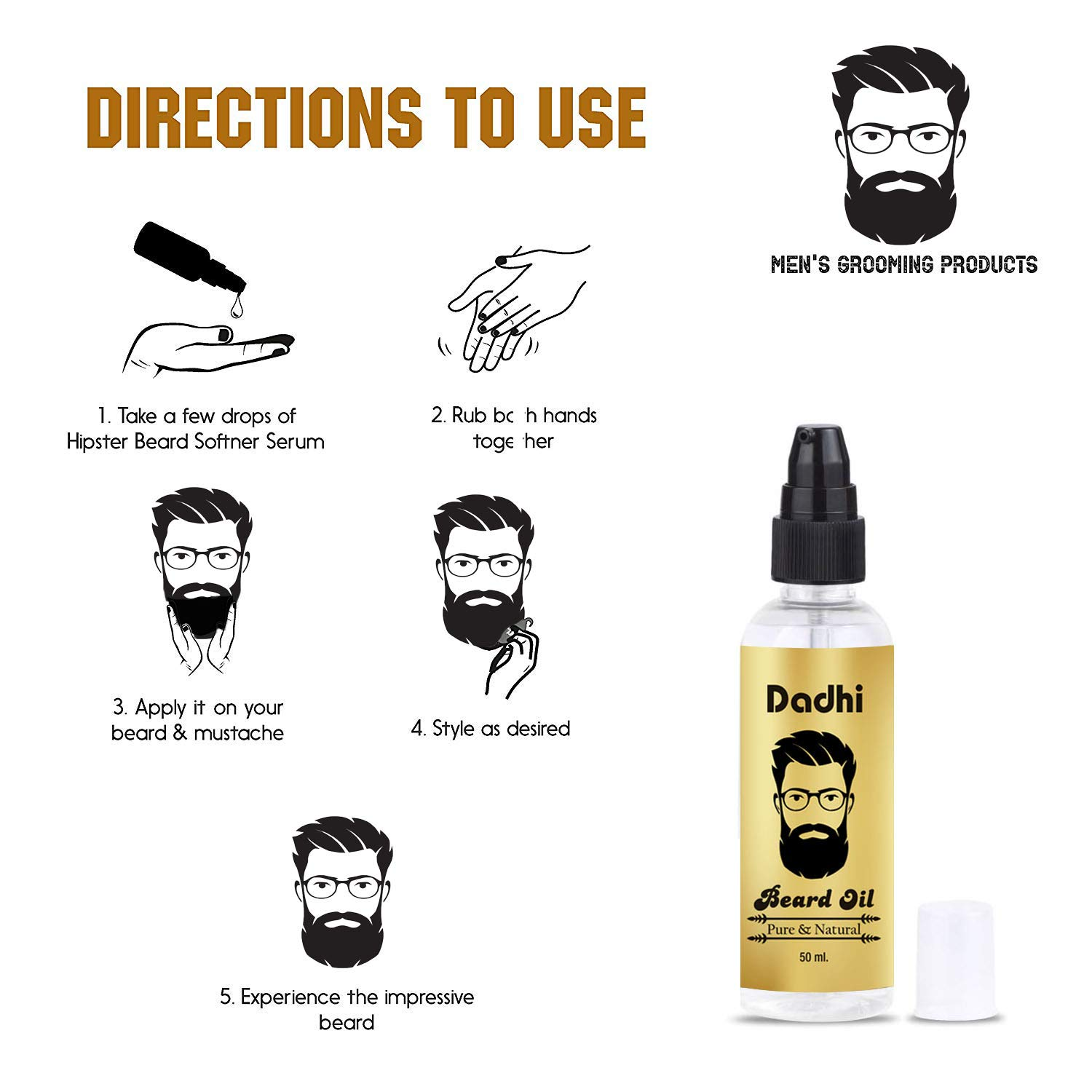 Buy Dadhi Beard and Hair Growth Oil - 50 ml Online at Low