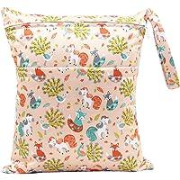 wdoit pañal bolsa bebé resistente al agua bolso cambiador portátil multifunción bolsa para pañales doble cremallera