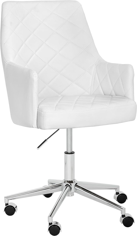 Sunpan Modern Chase Office Chair, Snow