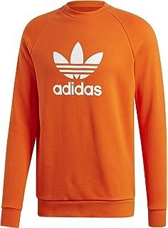 Adidas trefoil crew felpa amazon arancione gomma