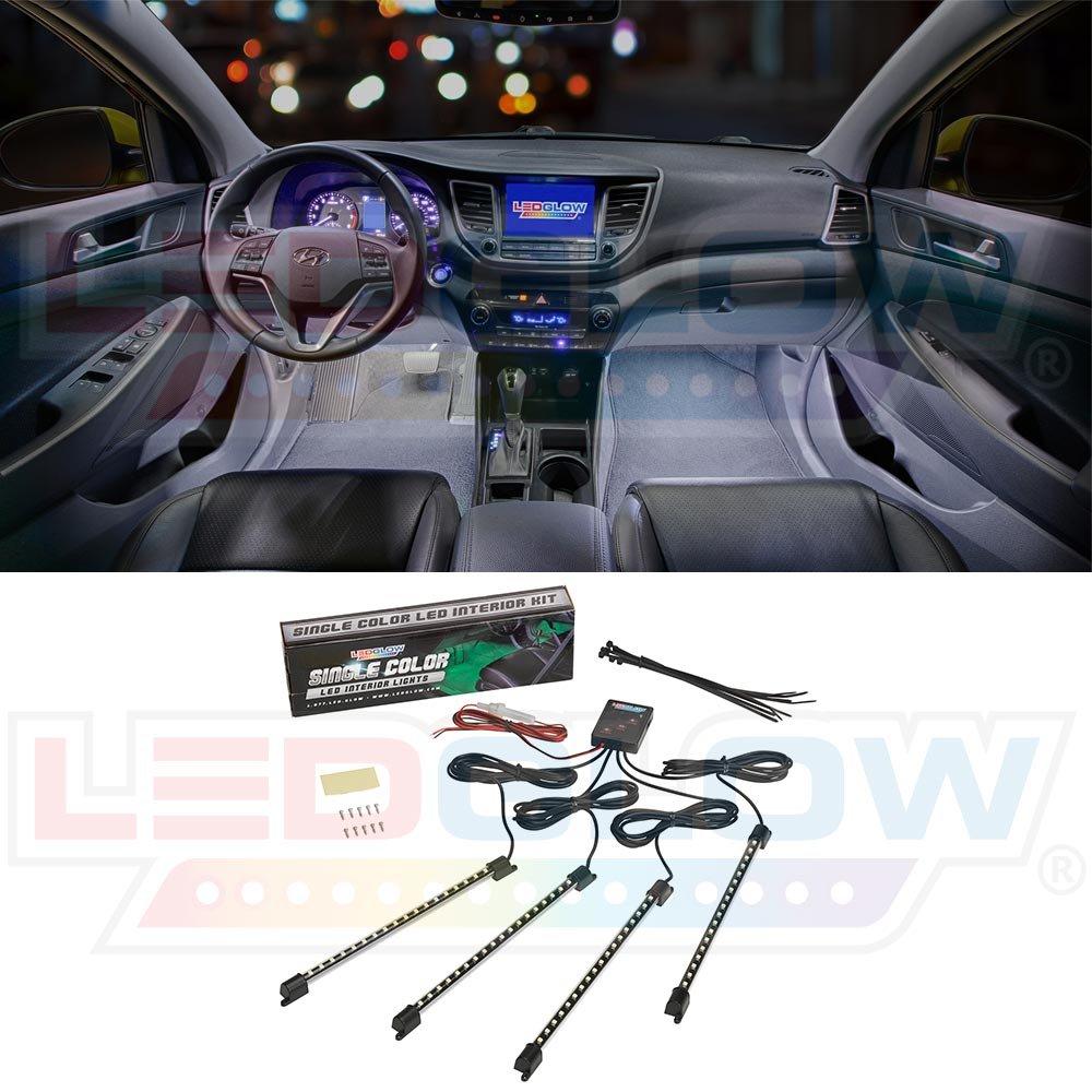 Ledglow 4pc White Led Interior Underdash Lighting Kit Citroen C5 Fuse Box Problems Car Motorbike