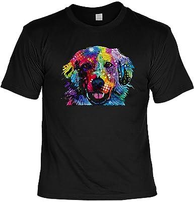 Color T-Shirt Neon Golden Retriever Shirt 4 Heroes Geburtstag Geschenk geil  bedruckt: Amazon.de: Bekleidung