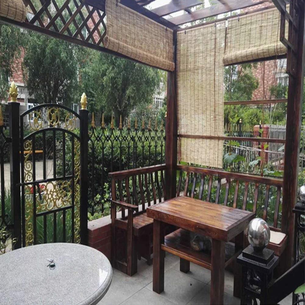 Cortina de láminas Bamboo Blind Window Roll Persianas enrollables Retro Vertical Rising Cortina Decorativa Salón de té, Gazebo, Personalizable (Color: A, Tamaño: 50x60cm (20x24in)): Amazon.es: Hogar