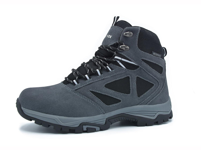 Knixmax Homme Chaussures de Randonnée Extérieur Antidérapant Imperméable Chaussures de Marche Randonnée