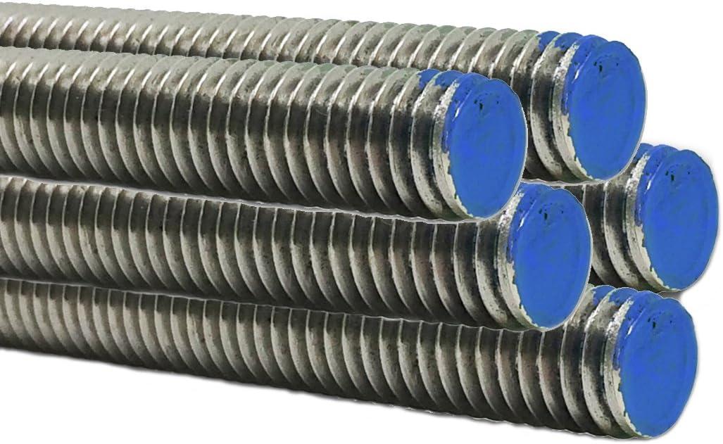"5//16/"" 18  Threaded Rod  Stainless Steel 18-8  304  4 Pcs  24/"" Long"