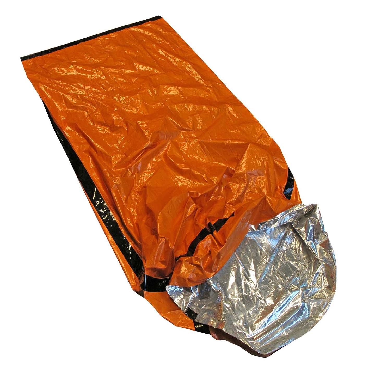 SE EB122OR Emergency Sleeping Bag Kit with Drawstring Carrying Bag, Orange, Survial Blanket
