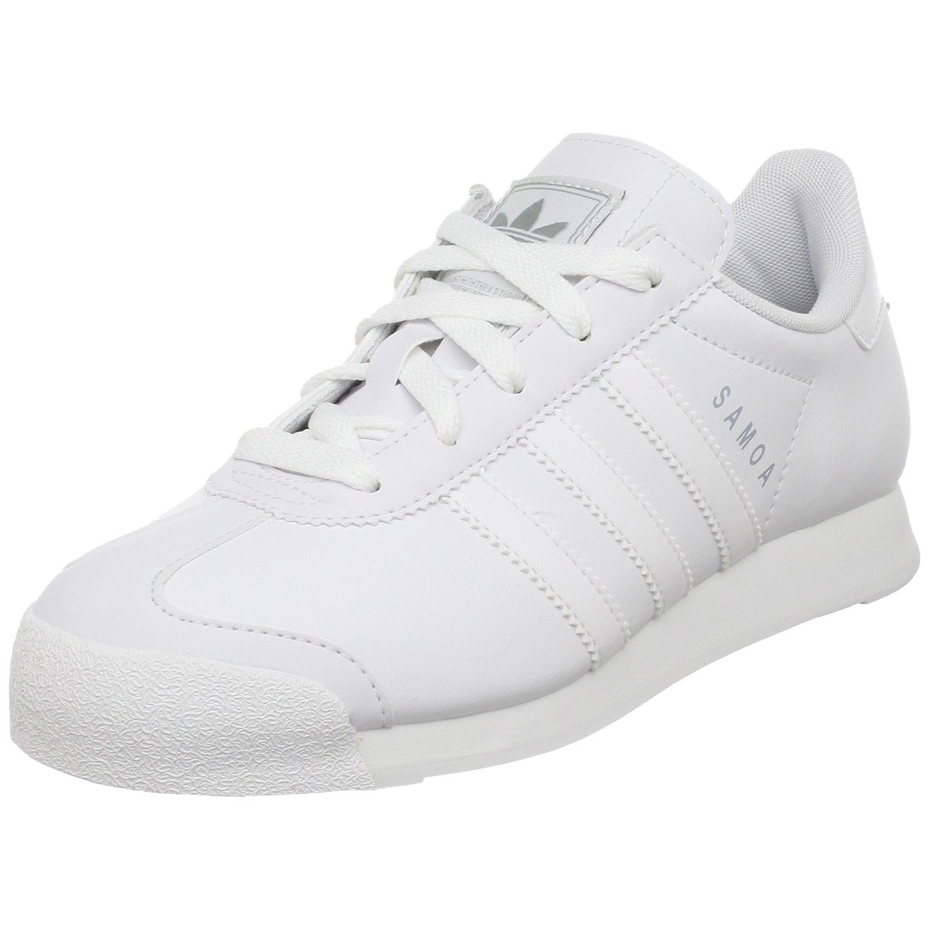 adidas Originals Samoa White/White/Silver Sneaker (Little Kid/Big Kid) 7 M US Big Kid