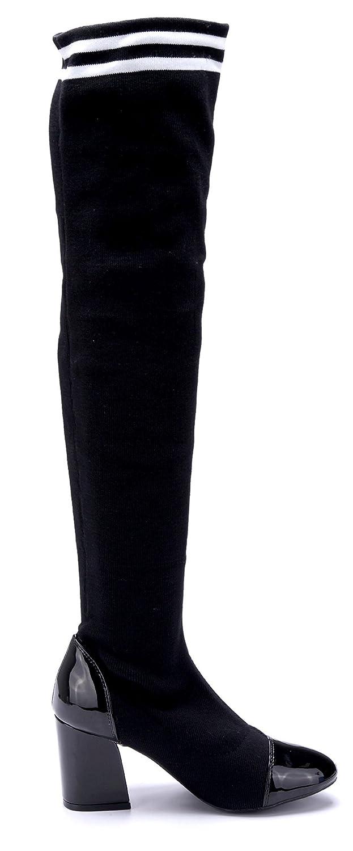 c89b3f1440d203 Billig Wie Viel Günstiges Online-Shopping Damen Schuhe Overknee Stiefel  Stiefeletten Boots Schwarz Blockabsatz Stretch